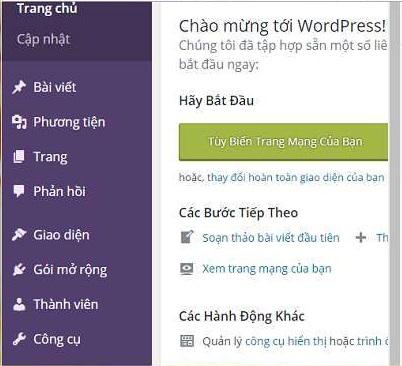 Chỉnh sửa giao diện WordPress bước 1