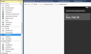 DateTimePicker trong Android với Xamarin (Bài 4)
