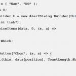 Dialog trong Android với Xamarin (Bài 5)