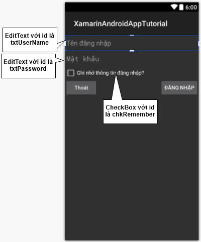 SharedPreferences trong Android với Xamarin