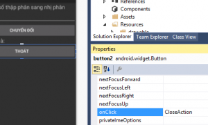 Thiết kế giao diện và xử lý sự kiện trong Android với Xamarin (Bài 2)