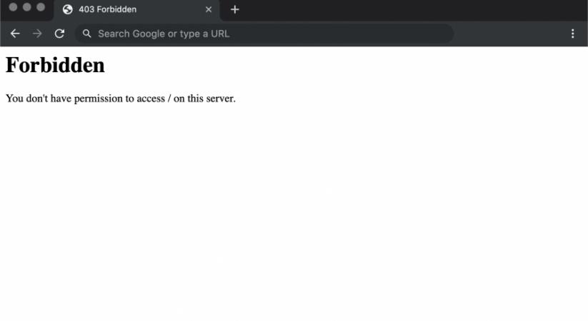 Sửa lỗi 403 Forbidden Error trong Centos WebPanel (CWP)
